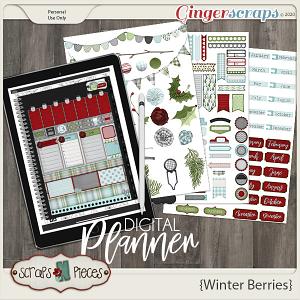 Winter Berries Planner Pieces - Scraps N Pieces