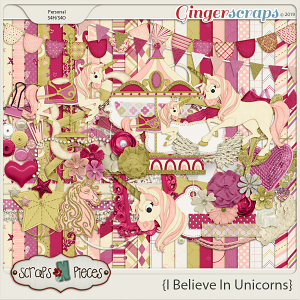 I Believe in Unicorns by Scraps N Pieces