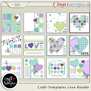 Craft-Templates Love Bundle