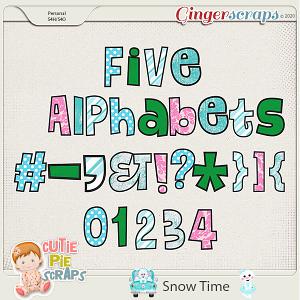 Snow Time Alphabets