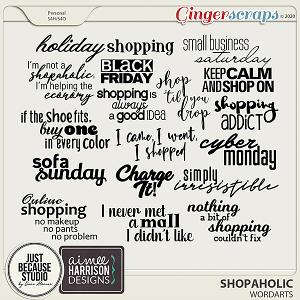 Shopaholic Wordarts by JB Studio and Aimee Harrison Designs