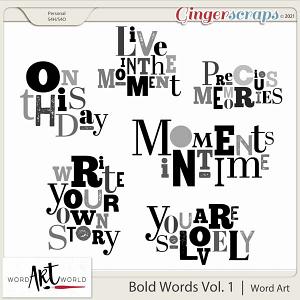 Bold Words Vol. 1 Word Art