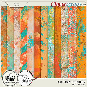 Autumn Cuddles Artsy Papers by JB Studio and Neia Scraps