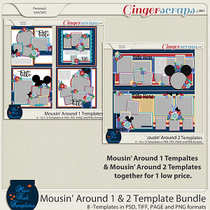 Mousin' Around 1 & 2 Template Bundle  by Miss Fish