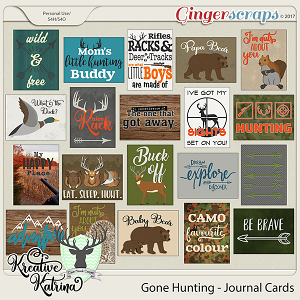 Gone Hunting Journal Cards by Kreative Katrina & Clever Monkey Graphics