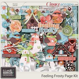 Feeling Frosty Page Kit by Aimee Harrison
