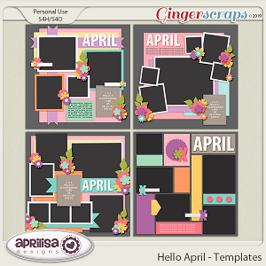 Hello April - Template Pack