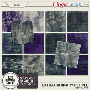 Extraordinary People Artsy Papers by JB Studio & Aimee Harrison