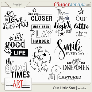 Our Little Star Word Art