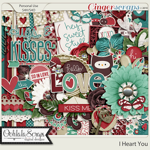 I Heart You Digital Scrapbook Kit