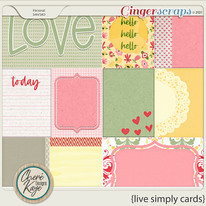 Live Simply Cards by Chere Kaye Designs
