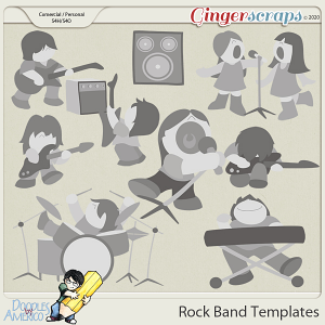 Doodles By Americo: Rock Band Templates
