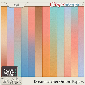 Dreamcatcher Ombre Papers by Aimee Harrison and Tami Miller