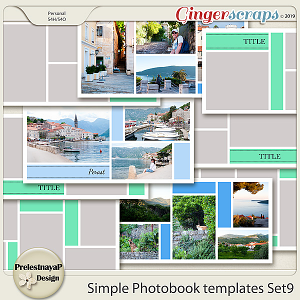 Simple Photobook templates Set 9