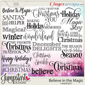 Believe in the Magic {Word Art} by Jumpstart Designs