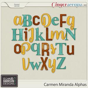 Carmen Miranda Alpha Sets by Aimee Harrison