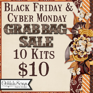 Build Your Own Grab Bag Kits Black Friday Cyber Monday 2020  by Ooh La La Scraps