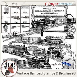 Heritage Resource - Vintage Railroad Stamps Vol 3 by ADB Designs