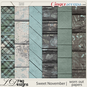Sweet November: Worn Out Papers by LDragDesigns