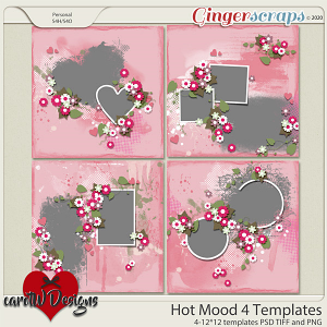 Hot Mood 4 Templates by CarolW Designs