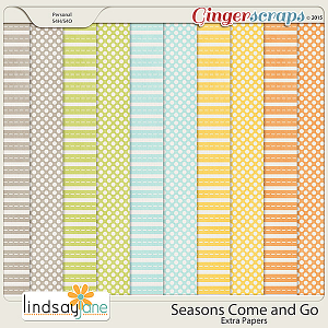 Seasons Come and Go Extra Papers by Lindsay Jane