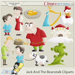 Doodles By Americo: Jack And The Beanstalk Cliparts