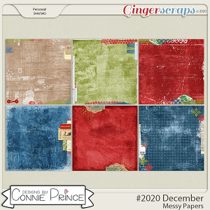 #2020 December - Messy Papers by Connie Prince