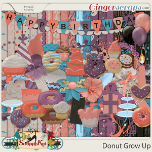Donut Grow Up by The Scrappy Kat