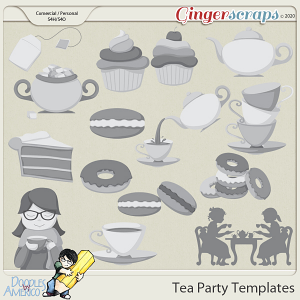 Doodles By Americo: Tea Party Templates