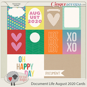 Document Life August 2020 Cards by Luv Ewe Designs