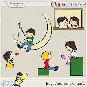 Doodles By Americo: Boys And Girls Cliparts