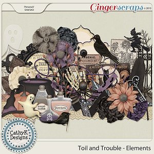 Toil and Trouble Elements: by CathyK Designs