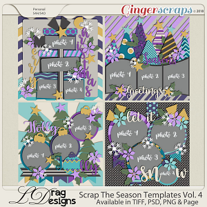 Scrap The Season Templates Vol. 4 by LDragDesigns