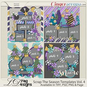 Scrap The Season Templates Vol. 4 by LDragDesigns