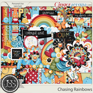 Chasing Rainbows Digital Scrapbooking Kit