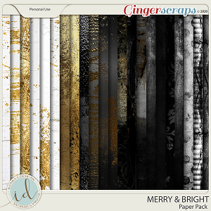 Merry & Bright Paper Pack by Ilonka's Designs