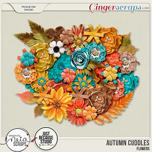 Autumn Cuddles - Flowers - by Neia Scraps and JB Studio