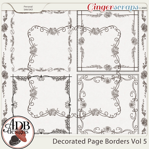 Heritage Resource - Decorative Page Borders Vol 05 by ADB Designs