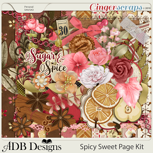 Spicy Sweet Page Kit by ADB Designs