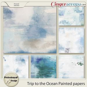 Trip to the Ocean Painted papers
