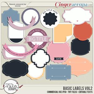Basic Labels - VOL 02 - by Neia Scraps - CU
