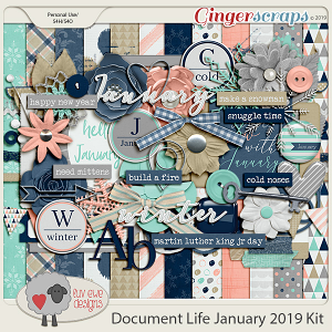 Document Life January 2019 Kit by Luv Ewe Designs