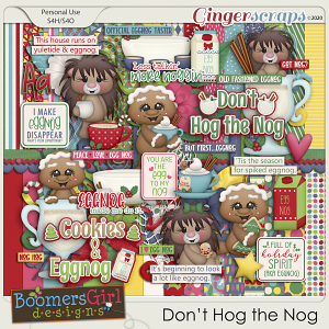 Don't Hog the Nog by BoomersGirl Designs