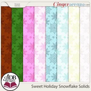 Sweet Holiday Snowflake Solids by ADB Designs