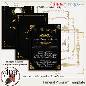 Heritage Resource - Funeral Program Templates by ADB Designs