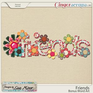 Friends Bonus Word Art from Designs by Lisa Minor