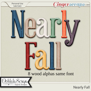 Nearly Fall Alphabets