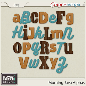 Morning Java Alpha Sets by Aimee Harrison