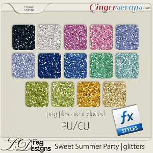 Sweet Summer Party: Glitterstyles by LDragDesigns