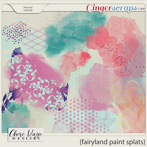 Fairyland Paint Splats by Chere Kaye Designs